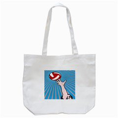 Volly Ball Sport Game Player Tote Bag (white) by Mariart