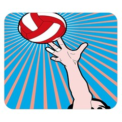 Volly Ball Sport Game Player Double Sided Flano Blanket (small)  by Mariart
