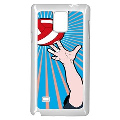 Volly Ball Sport Game Player Samsung Galaxy Note 4 Case (white) by Mariart