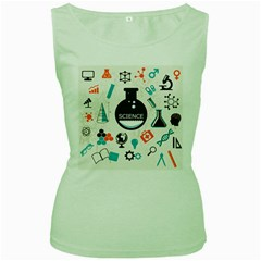 Science Chemistry Physics Women s Green Tank Top by Mariart