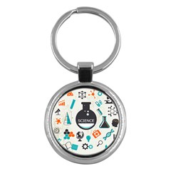Science Chemistry Physics Key Chains (round)  by Mariart
