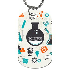 Science Chemistry Physics Dog Tag (one Side) by Mariart