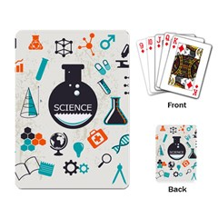 Science Chemistry Physics Playing Card by Mariart