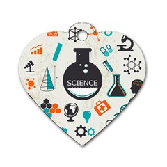 Science Chemistry Physics Dog Tag Heart (two Sides) by Mariart