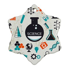Science Chemistry Physics Ornament (snowflake) by Mariart