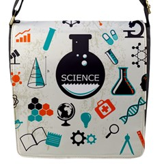 Science Chemistry Physics Flap Messenger Bag (s) by Mariart