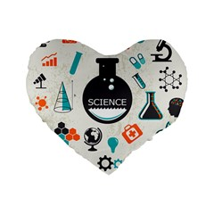 Science Chemistry Physics Standard 16  Premium Flano Heart Shape Cushions by Mariart