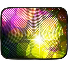 Plaid Star Light Color Rainbow Yellow Purple Pink Gold Blue Double Sided Fleece Blanket (mini)  by Mariart