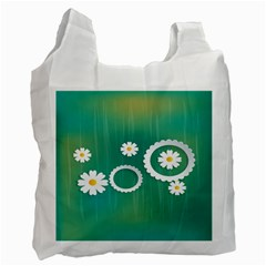Sunflower Sakura Flower Floral Circle Green Recycle Bag (one Side) by Mariart