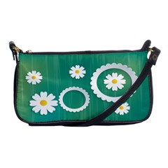 Sunflower Sakura Flower Floral Circle Green Shoulder Clutch Bags by Mariart