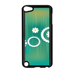 Sunflower Sakura Flower Floral Circle Green Apple Ipod Touch 5 Case (black) by Mariart