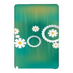 Sunflower Sakura Flower Floral Circle Green Samsung Galaxy Tab Pro 10 1 Hardshell Case by Mariart