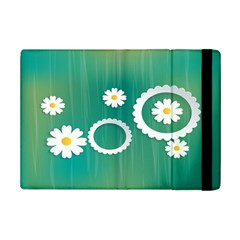 Sunflower Sakura Flower Floral Circle Green Ipad Mini 2 Flip Cases by Mariart