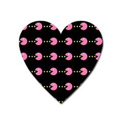 Wallpaper Pacman Texture Bright Surface Heart Magnet by Mariart