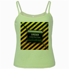 Under Construction Sign Iron Line Black Yellow Cross Green Spaghetti Tank by Mariart