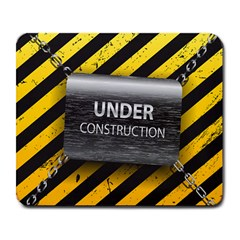 Under Construction Sign Iron Line Black Yellow Cross Large Mousepads by Mariart