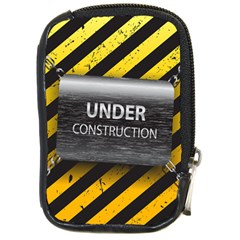 Under Construction Sign Iron Line Black Yellow Cross Compact Camera Cases by Mariart
