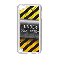 Under Construction Sign Iron Line Black Yellow Cross Apple Ipod Touch 5 Case (white) by Mariart