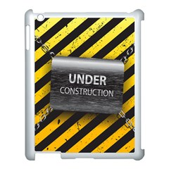 Under Construction Sign Iron Line Black Yellow Cross Apple Ipad 3/4 Case (white) by Mariart