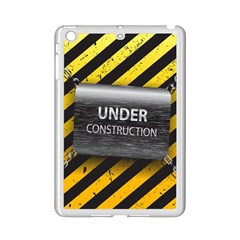 Under Construction Sign Iron Line Black Yellow Cross Ipad Mini 2 Enamel Coated Cases by Mariart