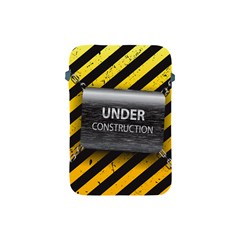 Under Construction Sign Iron Line Black Yellow Cross Apple Ipad Mini Protective Soft Cases by Mariart