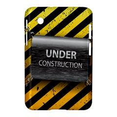 Under Construction Sign Iron Line Black Yellow Cross Samsung Galaxy Tab 2 (7 ) P3100 Hardshell Case  by Mariart