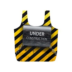 Under Construction Sign Iron Line Black Yellow Cross Full Print Recycle Bags (s)  by Mariart
