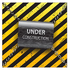 Under Construction Sign Iron Line Black Yellow Cross Large Satin Scarf (square) by Mariart