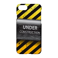 Under Construction Sign Iron Line Black Yellow Cross Apple Iphone 7 Hardshell Case by Mariart