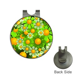 Sunflower Flower Floral Green Yellow Hat Clips With Golf Markers by Mariart