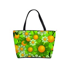 Sunflower Flower Floral Green Yellow Shoulder Handbags by Mariart