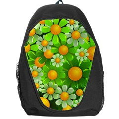 Sunflower Flower Floral Green Yellow Backpack Bag by Mariart