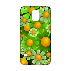 Sunflower Flower Floral Green Yellow Samsung Galaxy S5 Hardshell Case  by Mariart