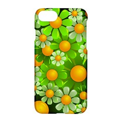 Sunflower Flower Floral Green Yellow Apple Iphone 7 Hardshell Case by Mariart