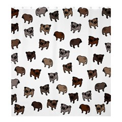 Pug Dog Pattern Shower Curtain 66  X 72  (large)