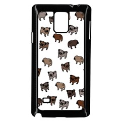Pug Dog Pattern Samsung Galaxy Note 4 Case (black)
