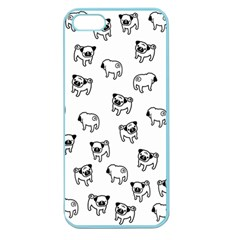 Pug Dog Pattern Apple Seamless Iphone 5 Case (color) by Valentinaart
