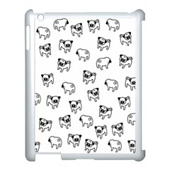 Pug Dog Pattern Apple Ipad 3/4 Case (white) by Valentinaart