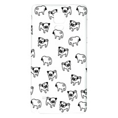 Pug Dog Pattern Galaxy Note 4 Back Case by Valentinaart