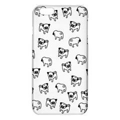 Pug Dog Pattern Iphone 6 Plus/6s Plus Tpu Case by Valentinaart