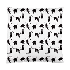 Black Cats Pattern Standard Cushion Case (two Sides) by Valentinaart