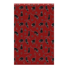 Black Cats And Witch Symbols Pattern Shower Curtain 48  X 72  (small)  by Valentinaart