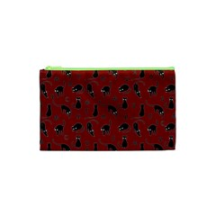 Black Cats And Witch Symbols Pattern Cosmetic Bag (xs) by Valentinaart