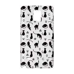 Black Cats And Witch Symbols Pattern Samsung Galaxy Note 4 Hardshell Case by Valentinaart