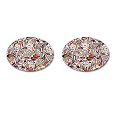 Colorful Abstract Floral Background Cufflinks (oval) by TastefulDesigns