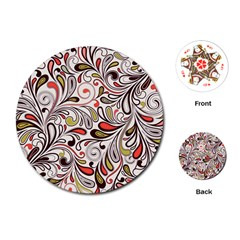 Colorful Abstract Floral Background Playing Cards (round)  by TastefulDesigns