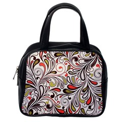 Colorful Abstract Floral Background Classic Handbags (one Side) by TastefulDesigns
