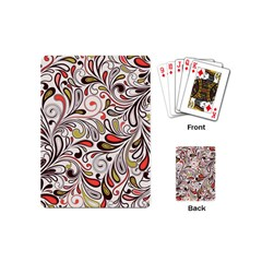 Colorful Abstract Floral Background Playing Cards (mini)  by TastefulDesigns