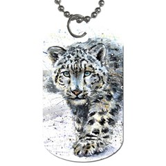 Snow Leopard Dog Tag (two Sides) by kostart