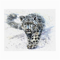Snow Leopard Small Glasses Cloth by kostart